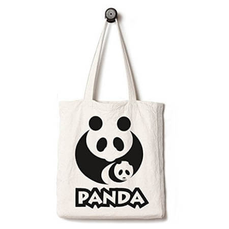 EcoFriendly tote bag printed animal 1