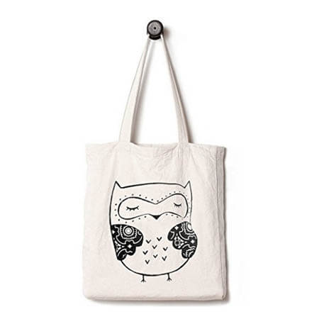 EcoFriendly tote bag printed animal 3