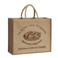 Fashion natural jute shopping bag 4