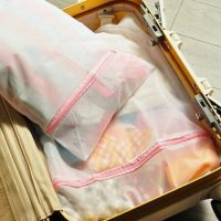 Folding travel laundry mesh bag 4