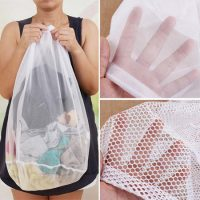 Mesh laundry bag with drawstring 4