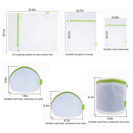 Net laundry bag zipper 4