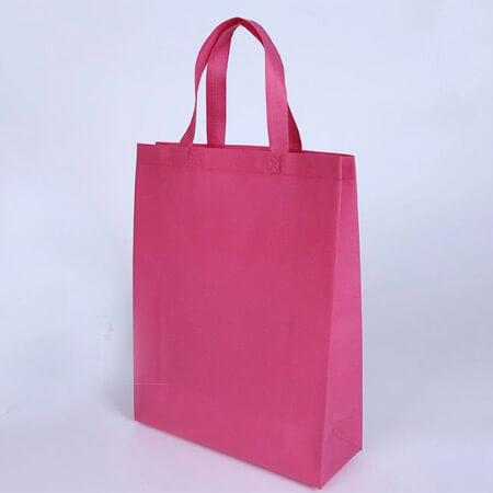 Pink non woven shopping bag 1