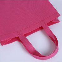 Pink non woven shopping bag 4