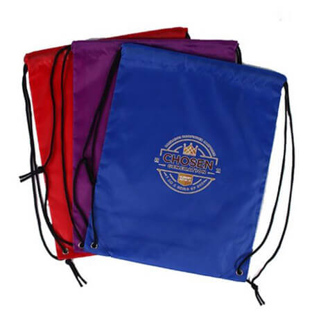 Promotional polyester drawstring bag 1