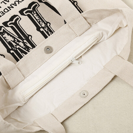 Canvas tote bag with inside pocket 1