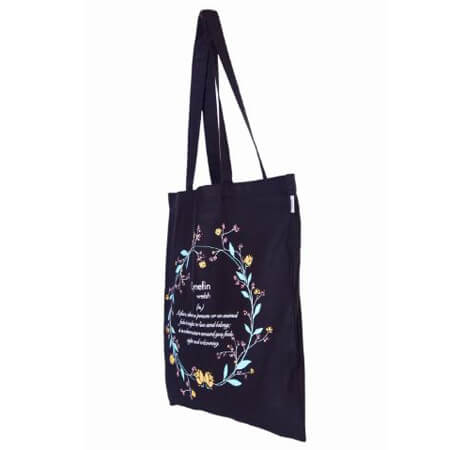 Eco-friendly canvas tote bag without gusset 1