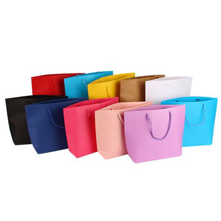 Colorful boat shaped paper bag 1