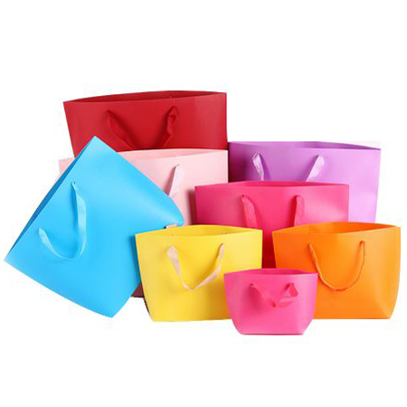 Colorful boat shaped paper bag 2