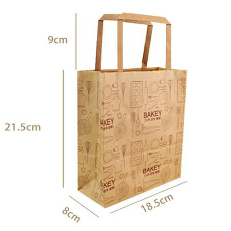 Food Grade Kraft Paper Bag For Bread Packingable