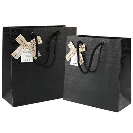 Luxury art paper bags with ribbon 4