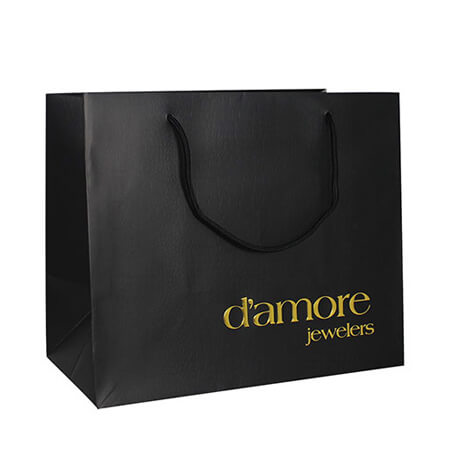 Luxury hot stamping gold foil paper bag 2