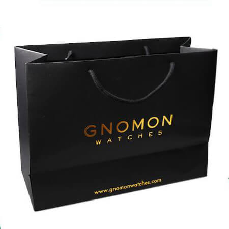 Luxury hot stamping gold foil paper bag 3
