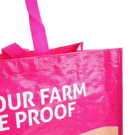 Durable laminated pp woven tote bag 2