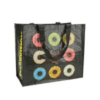Printed laminated pp woven tote bags 1