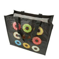 Printed laminated pp woven tote bags 2