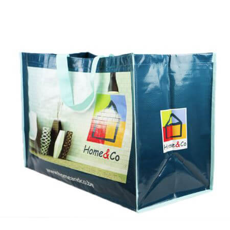 Recyclable pp woven bags with handle 1