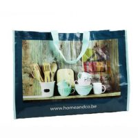 Recyclable pp woven bags with handle 2