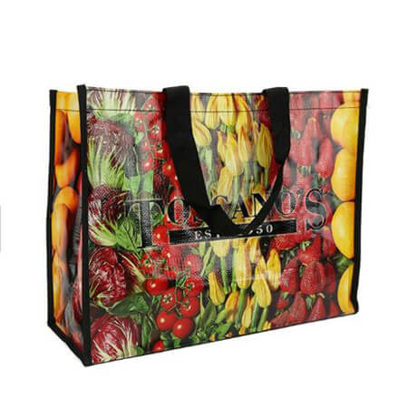 Reusable grocery pp woven shopping bags 1