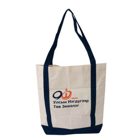 Canvas tote bag with company logo 1