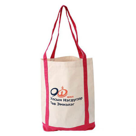 Canvas tote bag with company logo 2
