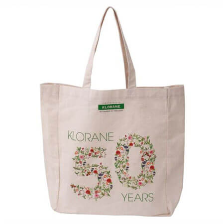 Canvas tote bag with company logo 3