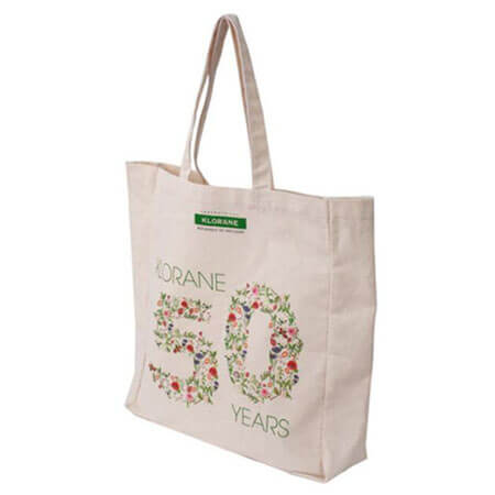 Canvas tote bag with company logo 4