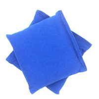 Empty (Unfilled) blue cornhole bean bags 1