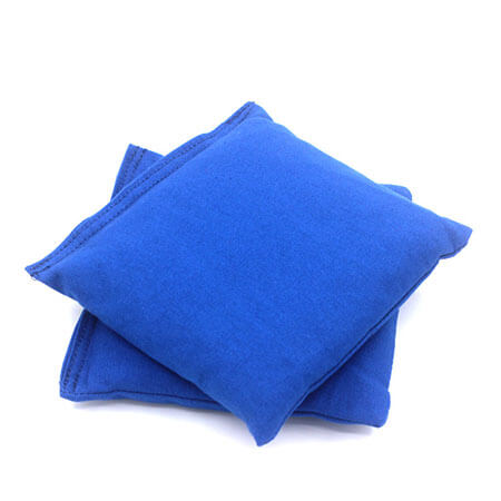Empty (Unfilled) blue cornhole bean bags 3
