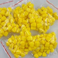 Plastic synthetic corn kernel cornhole bean bag filler 3