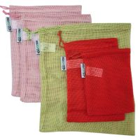 Colorful organic cotton mesh produce bag 1
