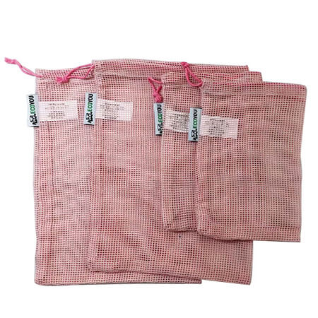 Colorful organic cotton mesh produce bag 2