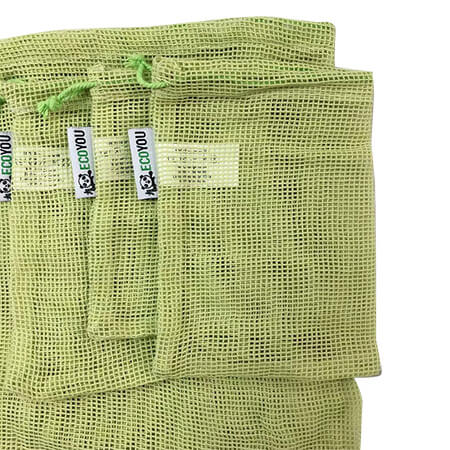 Colorful organic cotton mesh produce bag 3