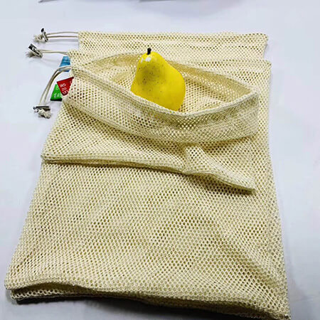 Cotton string mesh grocery bag 5