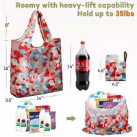 Fashion reusable folding polyester handbags 2