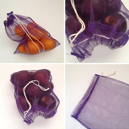 Mesh reusable produce bags for fruit & vegetables 1