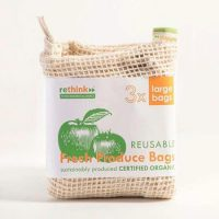 Organic cotton mesh produce bags 1