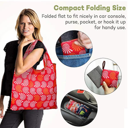 Rip-Stop foldable shopping grocery bags 2