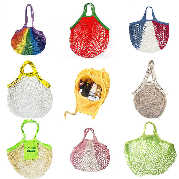 cotton mesh tote bag
