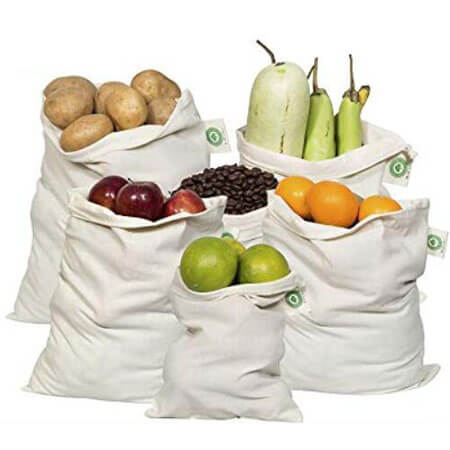 Custom printed organic cotton muslin bags 2