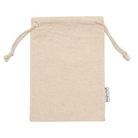 Custom printed organic cotton muslin bags 4