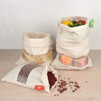 Muslin produce bags with window 2