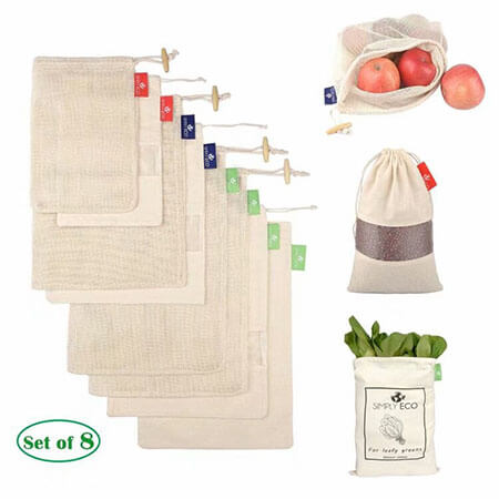 Muslin produce bags with window 4