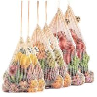 Organic cotton net bags set 1