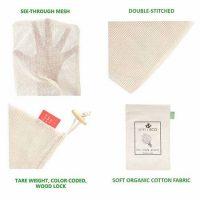 Produce bags in organic mesh & muslin 2