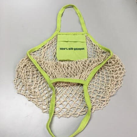 Cotton mesh bag with small bag 4