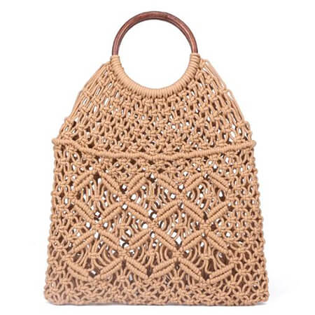 Cotton rope retro chic net handbag 1