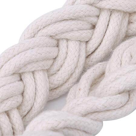 Cotton rope retro chic net handbag 3