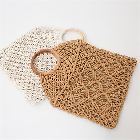 Cotton rope retro chic net handbag 4
